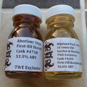 Aberlour 16yo and Highland Park 16yo TWE Samples